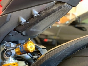 Carbon Lower Tank Guard  Panigale V4 R / Anniversario